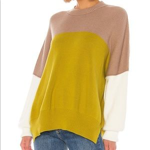 Free People Easy Street sweater in Lime
